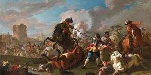 Galleria Poggi Dipinti Antichi_Roma_Francesco Casanova_Scena bellica_Olio su tela cm 75x124_preview