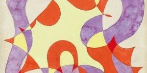 Galleria d'Arte Cinquantasei_Giacomo Balla_Linee di forza - motivo decorativo anni Venti, tempera su carta, cm 34,5x35_preview