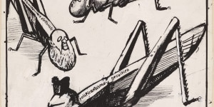 Mario Sironi_Le locuste d'Italia_tavola per Il Popolo d'Italia_1922_china su carta_cm24x23,5