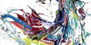 Mothernature's Awakening, 2017, acrilico su tela, 150x150 cm