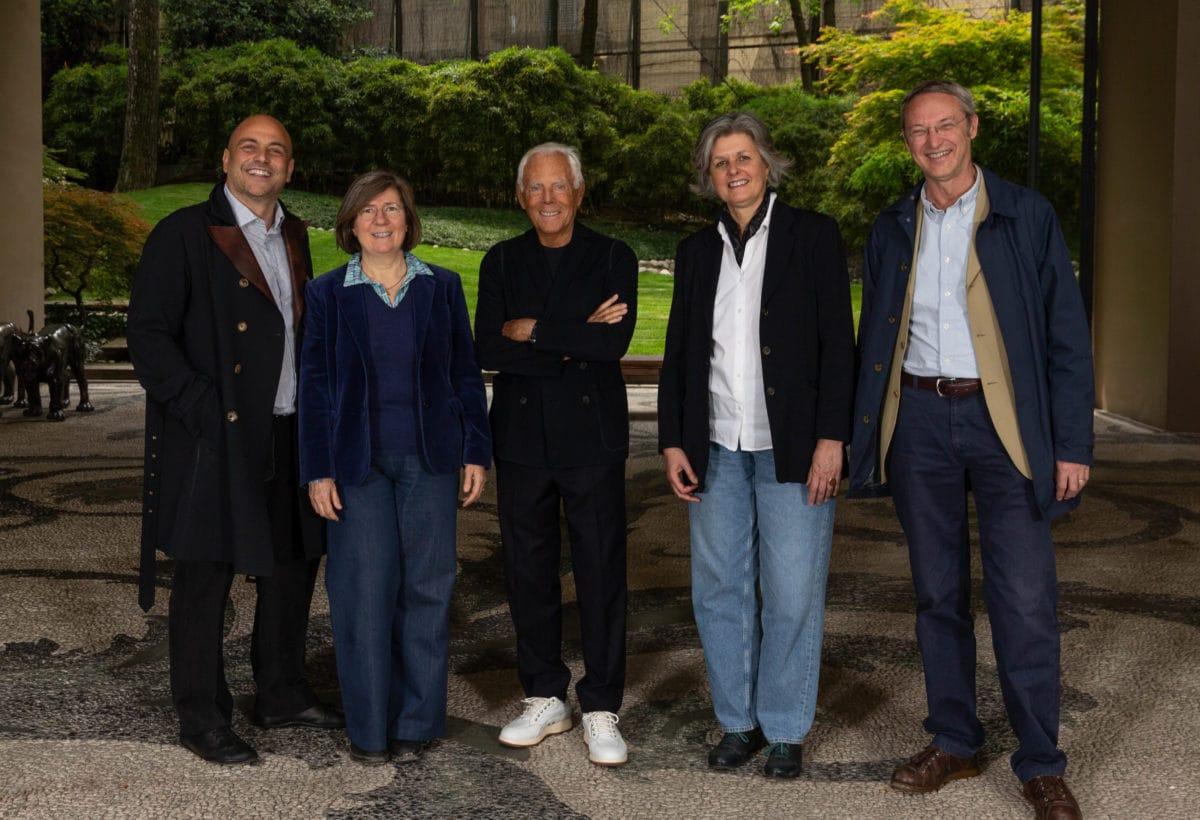 Giorgio Armani, Ilaria Valente, Stefano Guidarini, Filippo Orsini, Orsina Simona Pierini – Courtesy of Giorgio Armani