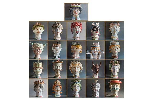 L'Unità nella diversità: 21 ceramiche antropomorfe di Caltagirone