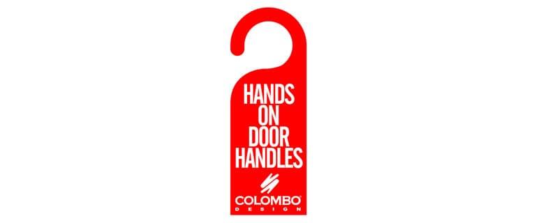 Hands on door handles