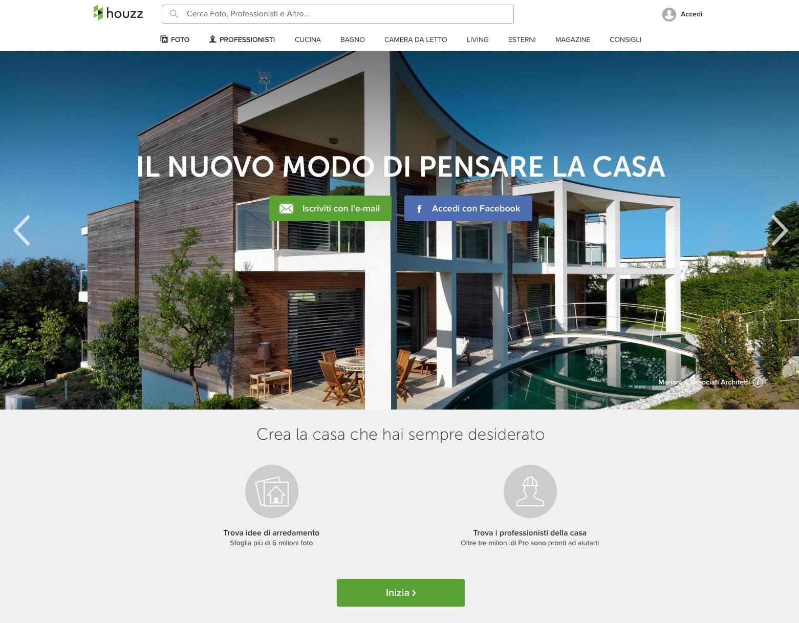Houzz lancia il sito italiano