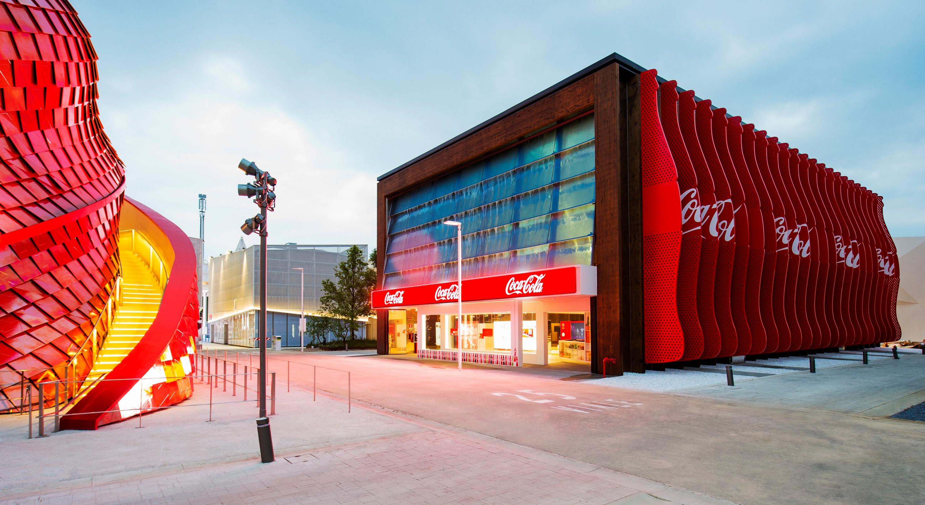 Coca Cola, un padiglione riciclabile e rinnovabile, con un occhio al dopo-Expo