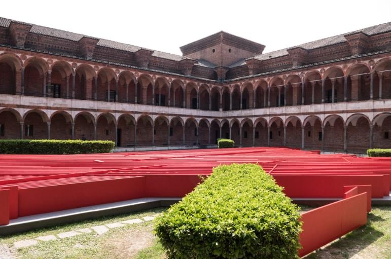 Due installazioni dell'evento Energy for Creativity di Interni, all'Università degli Studi di Milano, visitabili fino al 31 ottobre