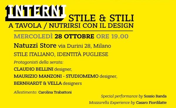 Stile&Stili. A tavola / Nutrirsi con il design