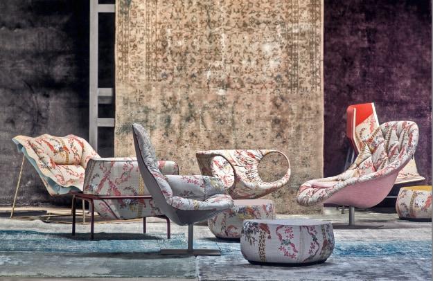 Tessile di lusso per il design dall'accordo tra Moroso, Rubelli e Kvadrat
