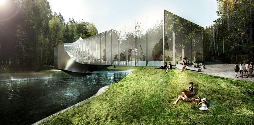 Un ponte-museo sul fiume