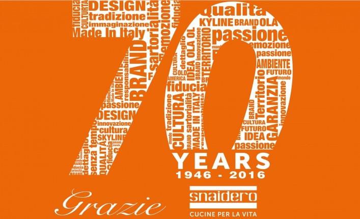 Snaidero festeggia 70 anni di storia