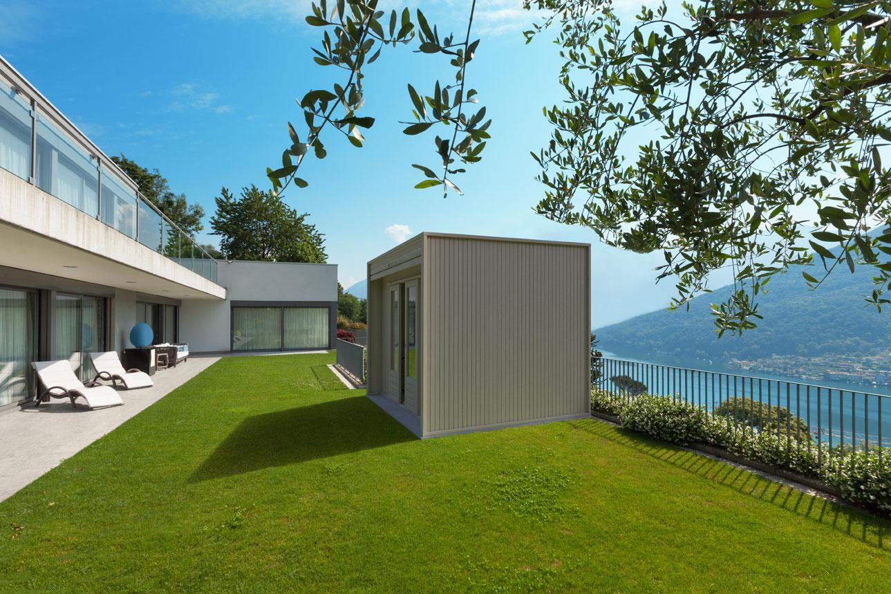 Cubo, design minimale per l'outdoor