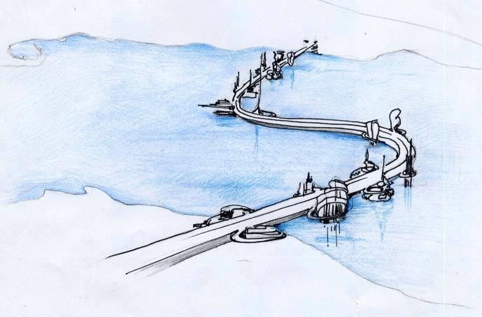 Gaetano Pesce e il ponte 'visitabile' sullo Stretto di Messina