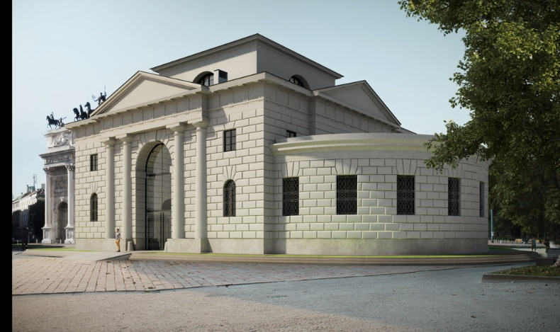 La rinascita dei caselli dell'Arco della Pace