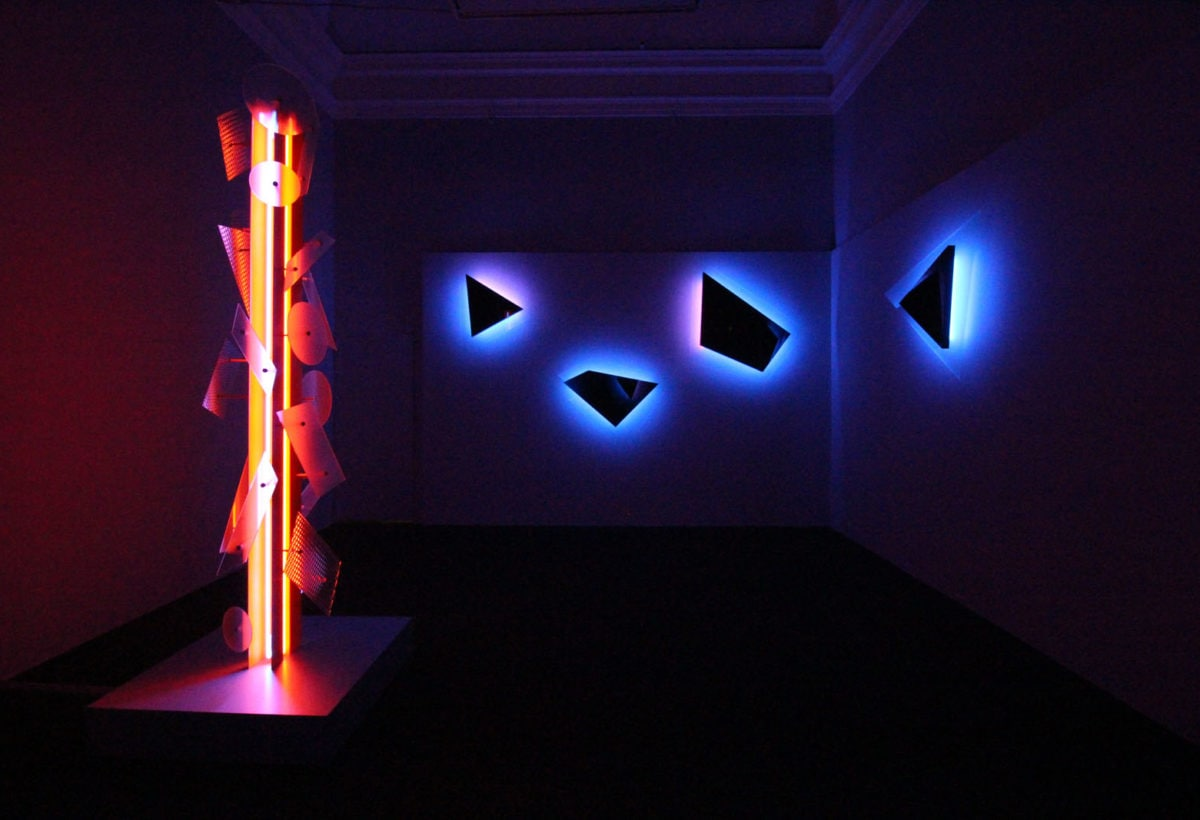 10_Exhibition view, Nanda Vigo, Palazzo Reale, Milano, 2019, opere Neverended light e Galactica sky
