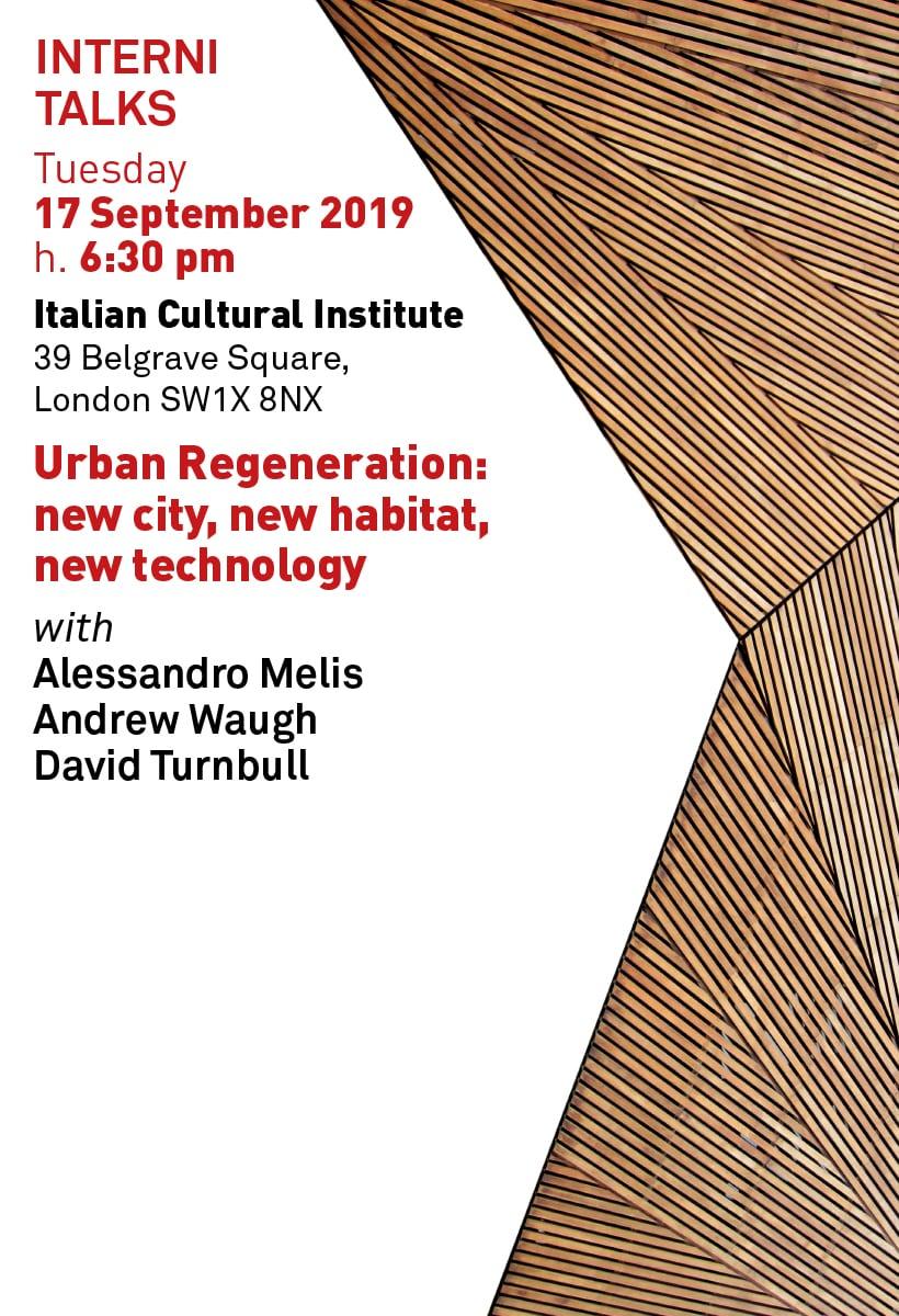 Urban Regeneration, talk a Londra