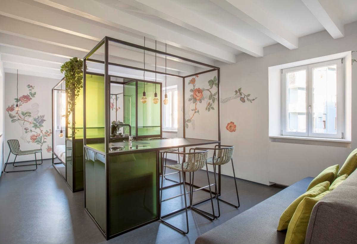 12 — Casa Trentini — Traiettorie Apartment — Wallpaper by Donatella Spaziani @ Cristina Galliena Bohman