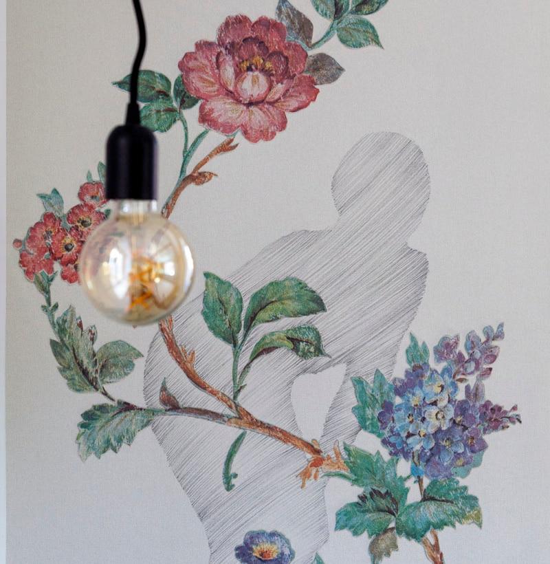 14 — Casa Trentini — Traiettorie Apartment — Wallpaper by Donatella Spaziani @ Cristina Galliena Bohman