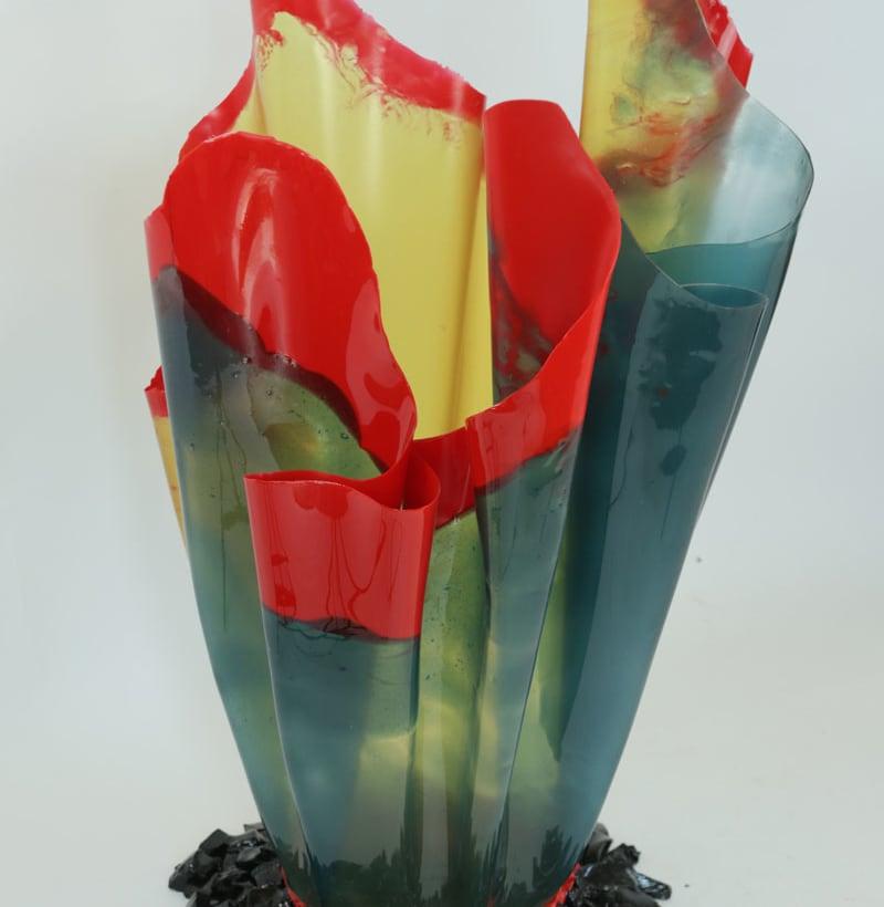 GAETANO PESCE – VASI 2019 – 4 (large border multicolor 60x110Hcm)