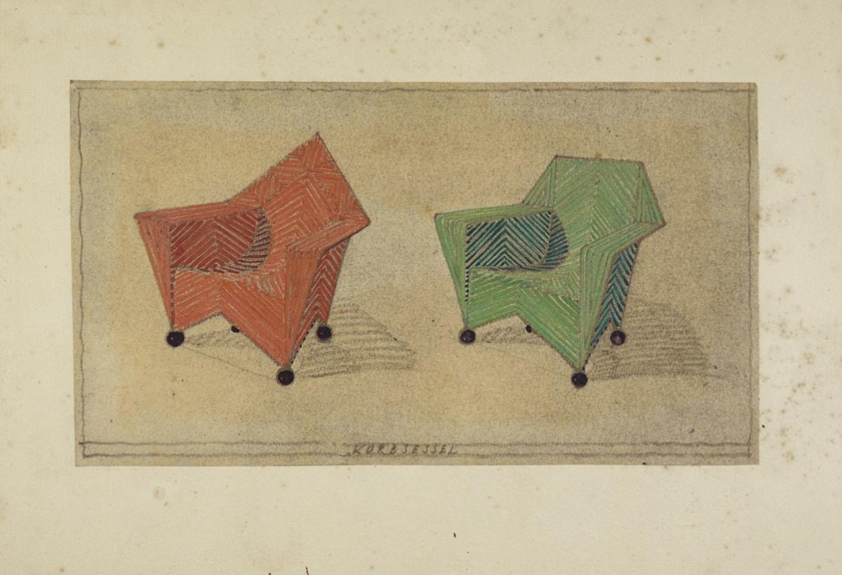 Wicker chair by Carl Fieger (c) Stiftung Bauhaus Dessau
