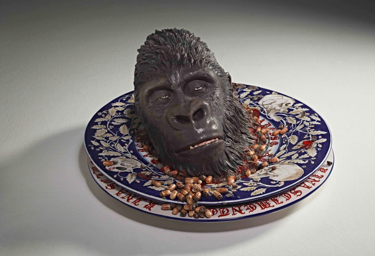 """""""Grottesca"""" 2013 ceramica policroma cm. h. 40 x diam. 75"""