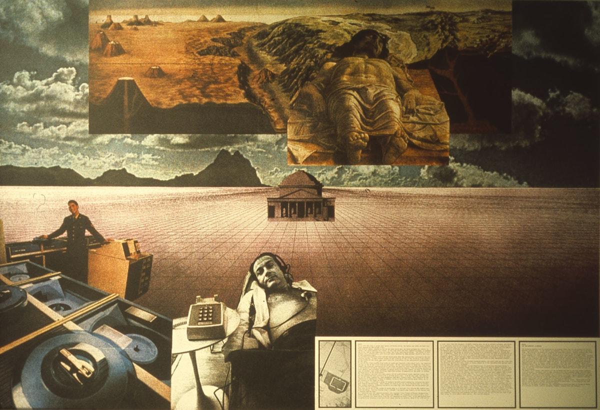 Superstudio, Morte (Il cimitero di Modena) Superstudio 1971-1973, 1973 litografia a colori, 700 x 1000 mm