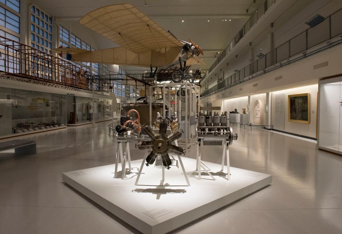 La Grande Galerie du musée de l'Air et de l'Espace, le matin de son inauguration officielle