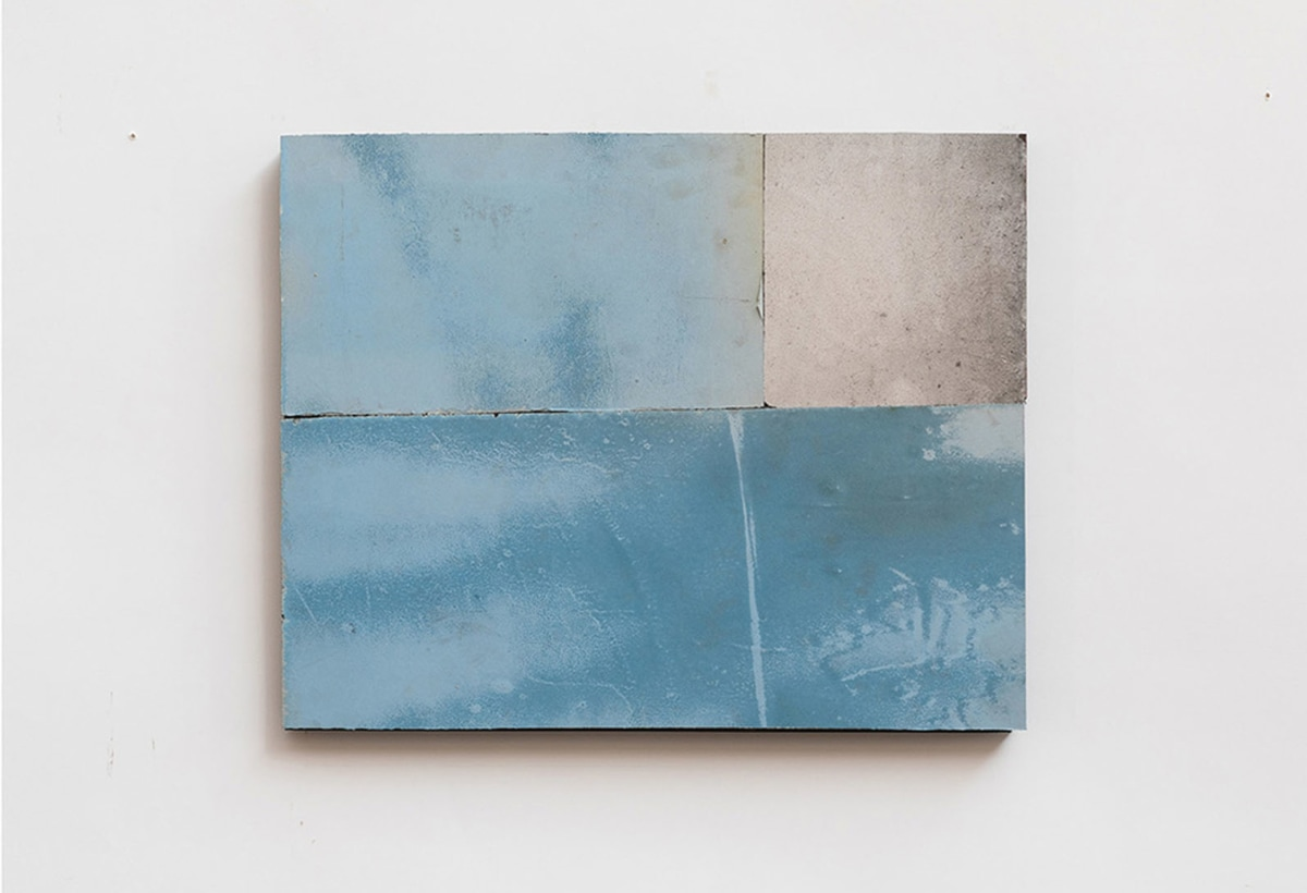 Flavio Favelli, Venezia 77, 2019, specchi graffiati montati su pannello di legno, cm. 40×50. Courtesy Studio SALES di Norberto Ruggeri