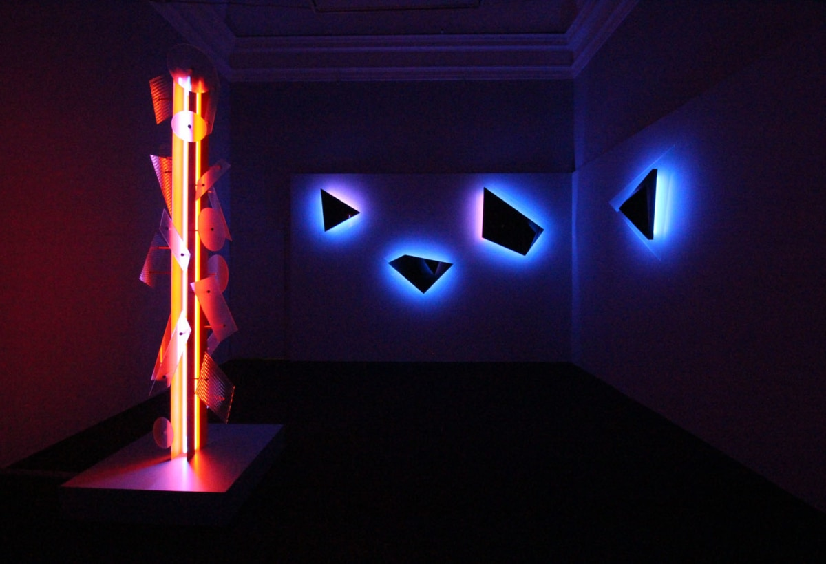 10_Exhibition view, Nanda Vigo, Palazzo Reale, Milano, 2019, opere Neverended light e Galactica sky (1)
