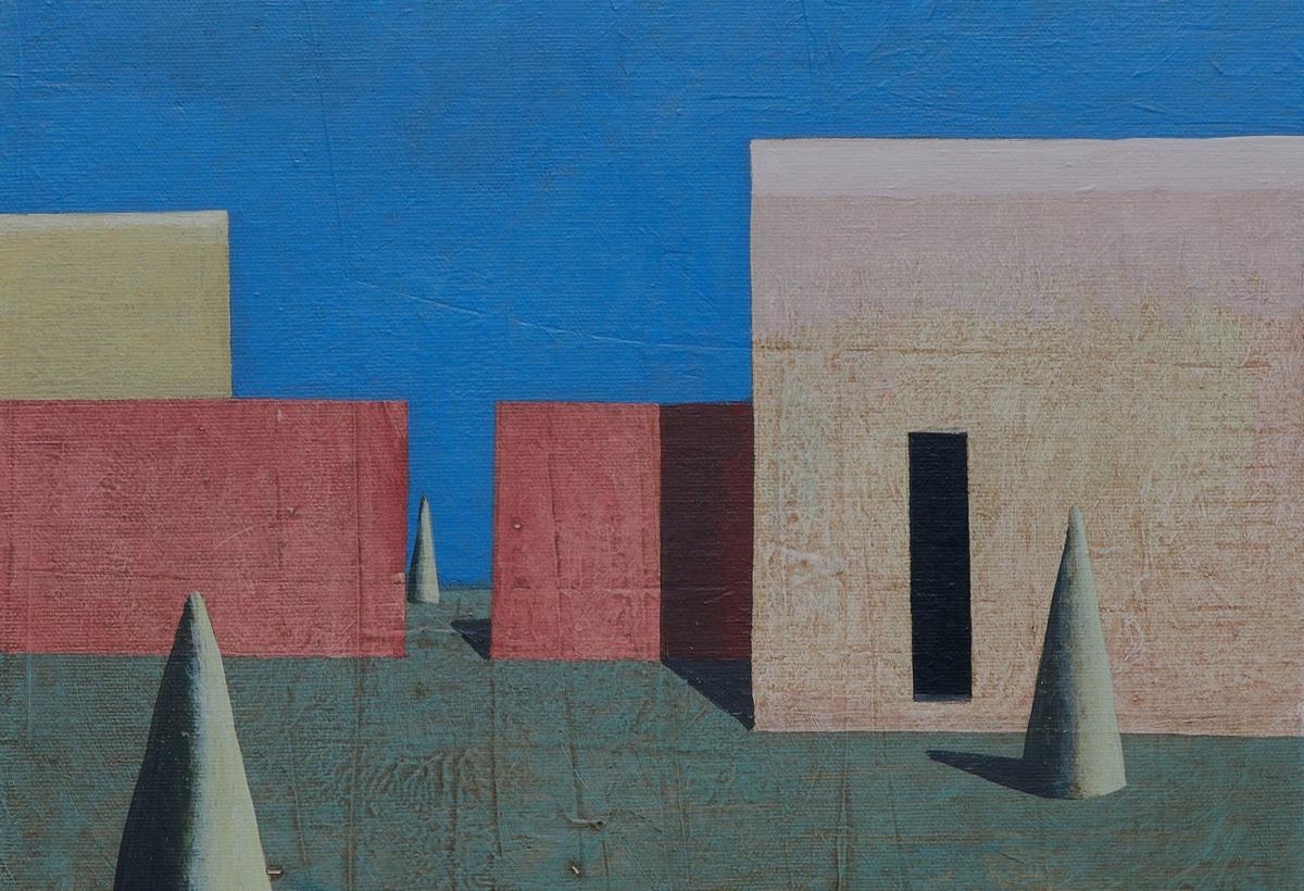 Antonia Jannone – Ramon Enrich, vao, acrilico su tela, cm 30 x 40, 2020