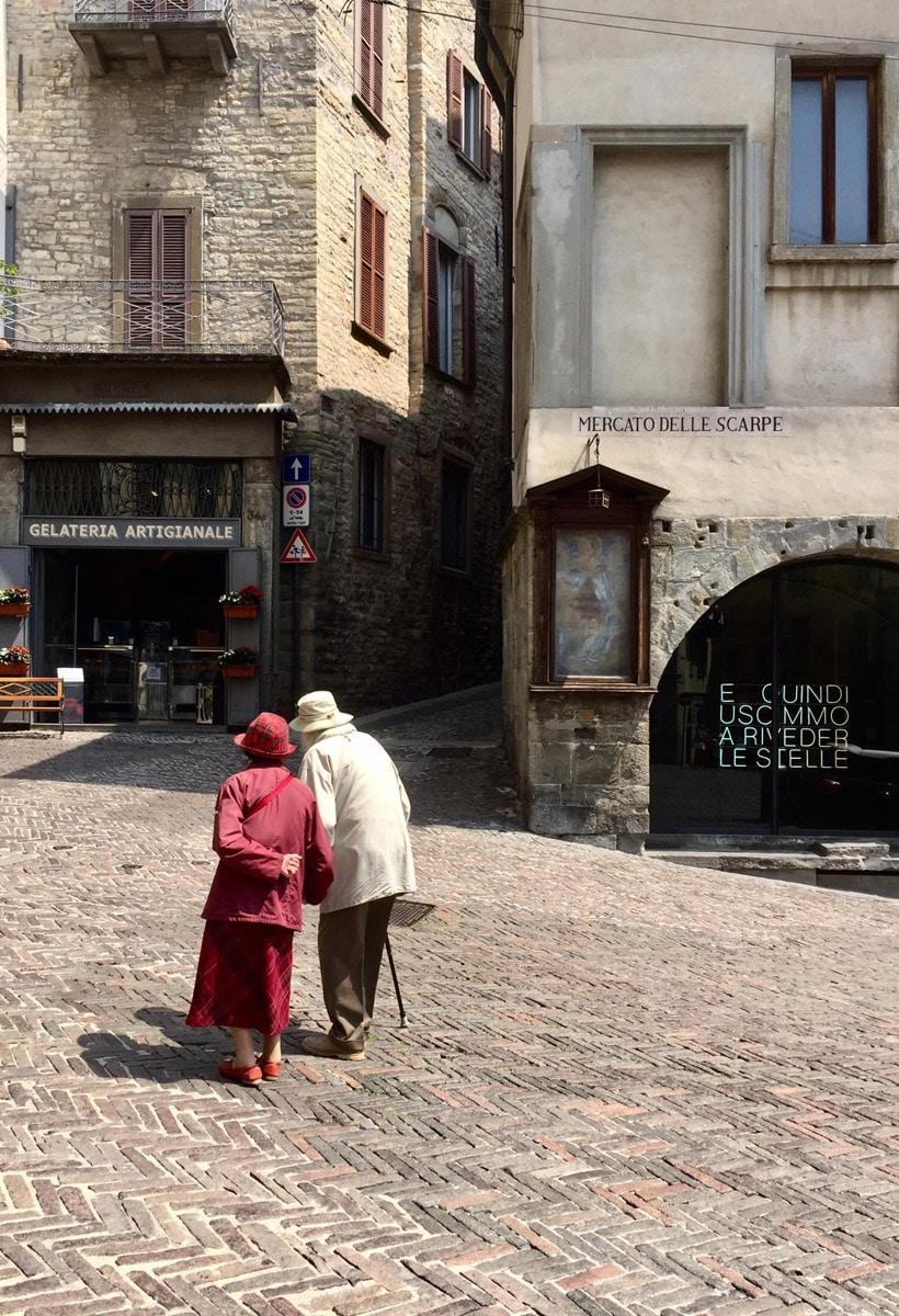 La luce brilla su Bergamo