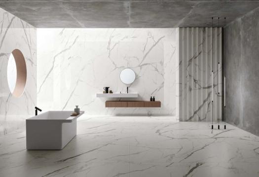 Ariostea_Ultra Marmi Statuario Bianco_Bathroom 1