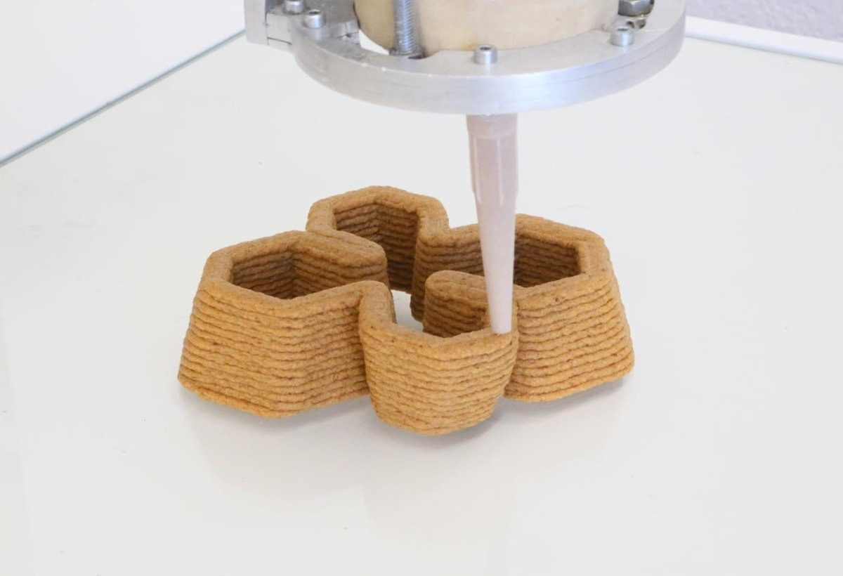 Bio Ex Machina – ©Officina Corpuscoli _ Maurizio Montalti – computed 4D printed modular mycelium bricks 1