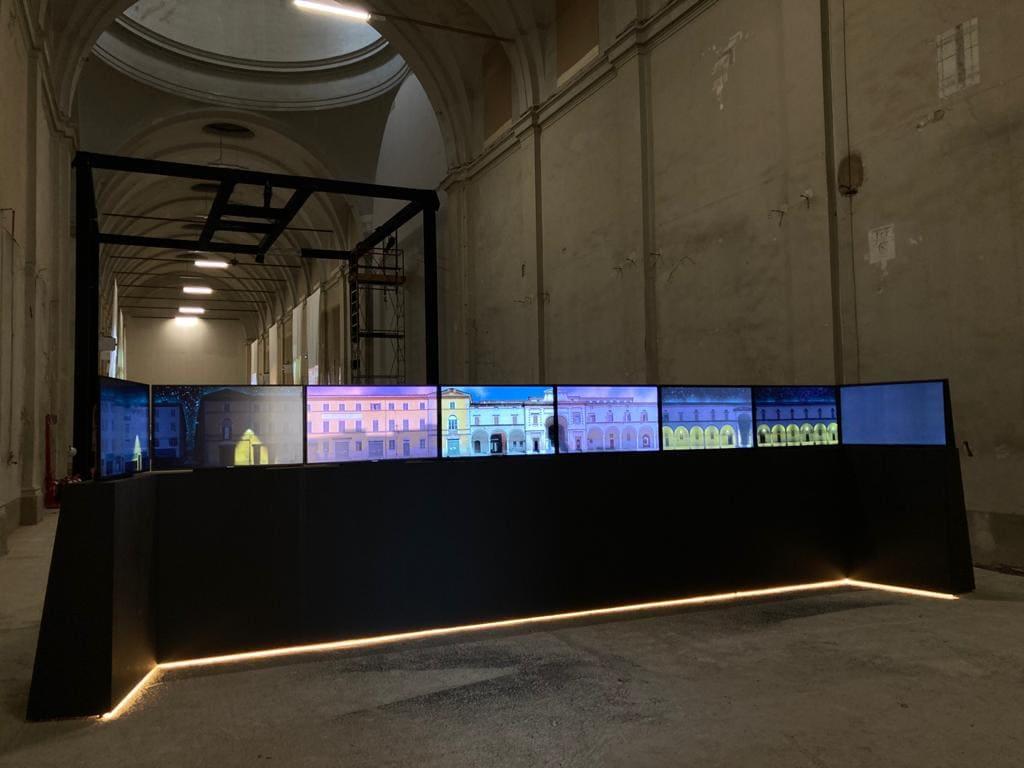 13_Mostra HOSPITALE Il futuro della memoria in allestimento (ph. Studio Azzurro)-min
