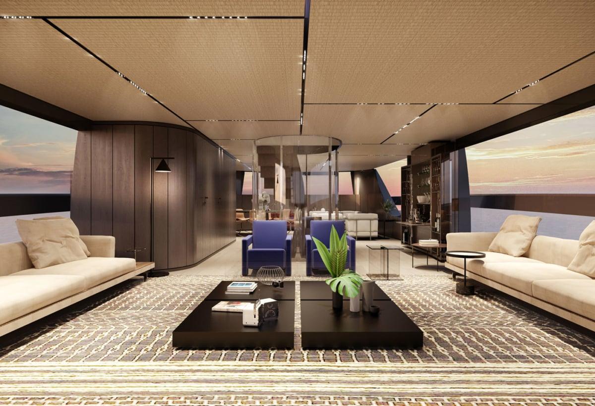 6 12 – SX112_MainDeck_salon_interior by Piero Lissoni