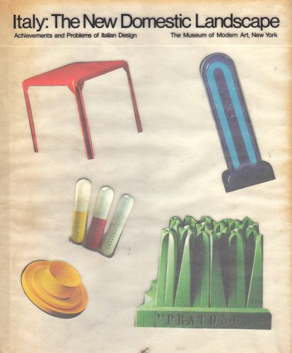 Cover of Italy The New Domestic Landscape Catalogue – MOMA, New York 1972