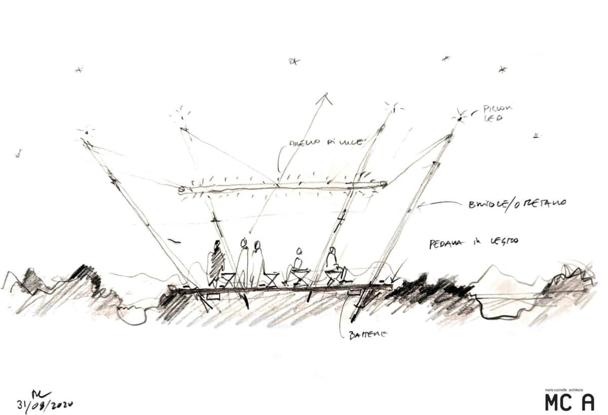 Installazione Laudato Sì_Sketch Mario Cucinella