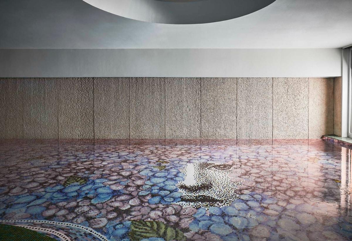 BISAZZA Mosaico_ORTENSIA decoration_design Fornasetti_POOL Relais L'ALBERETA_06