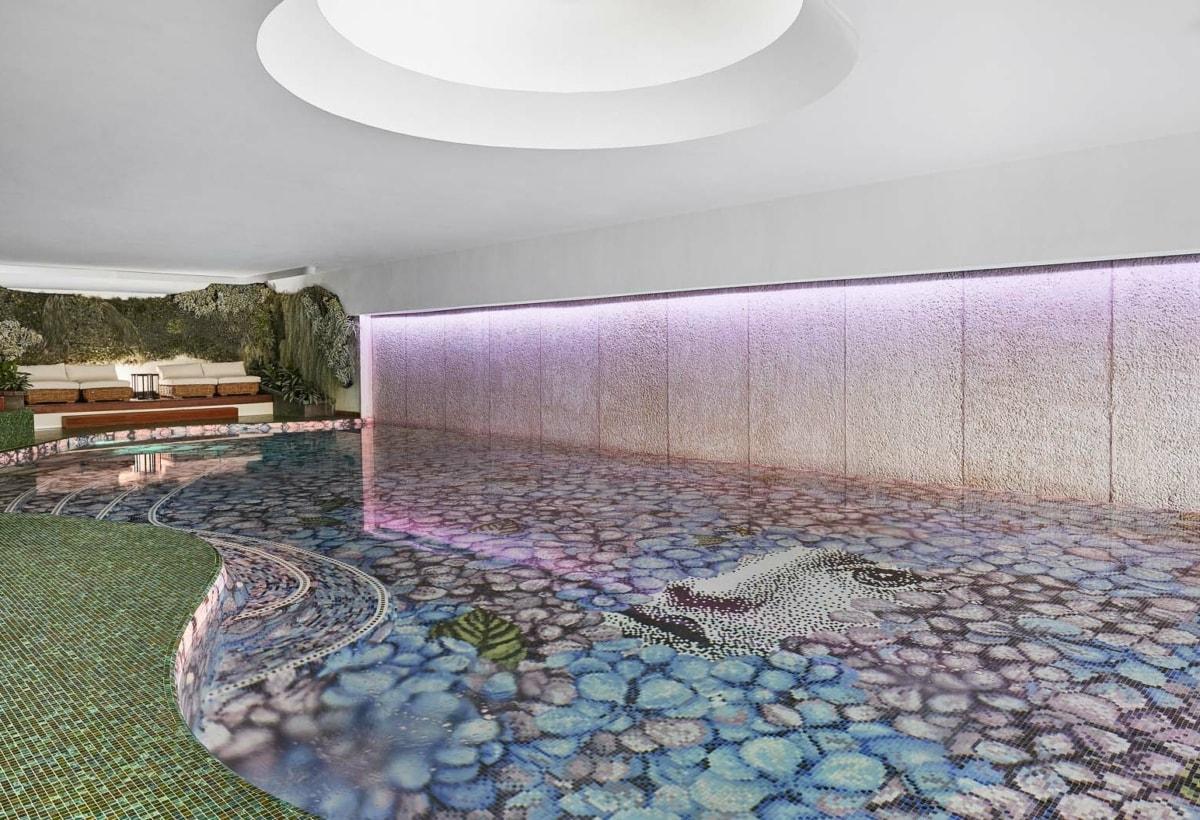 BISAZZA Mosaico_ORTENSIA decoration_design Fornasetti_POOL Relais L'ALBERETA_09