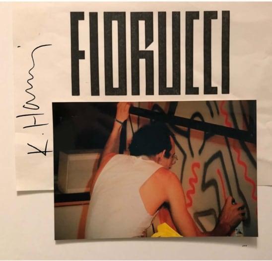 FIORUCCI – Action Painting by Keith Haring – negozio San Babila Milano
