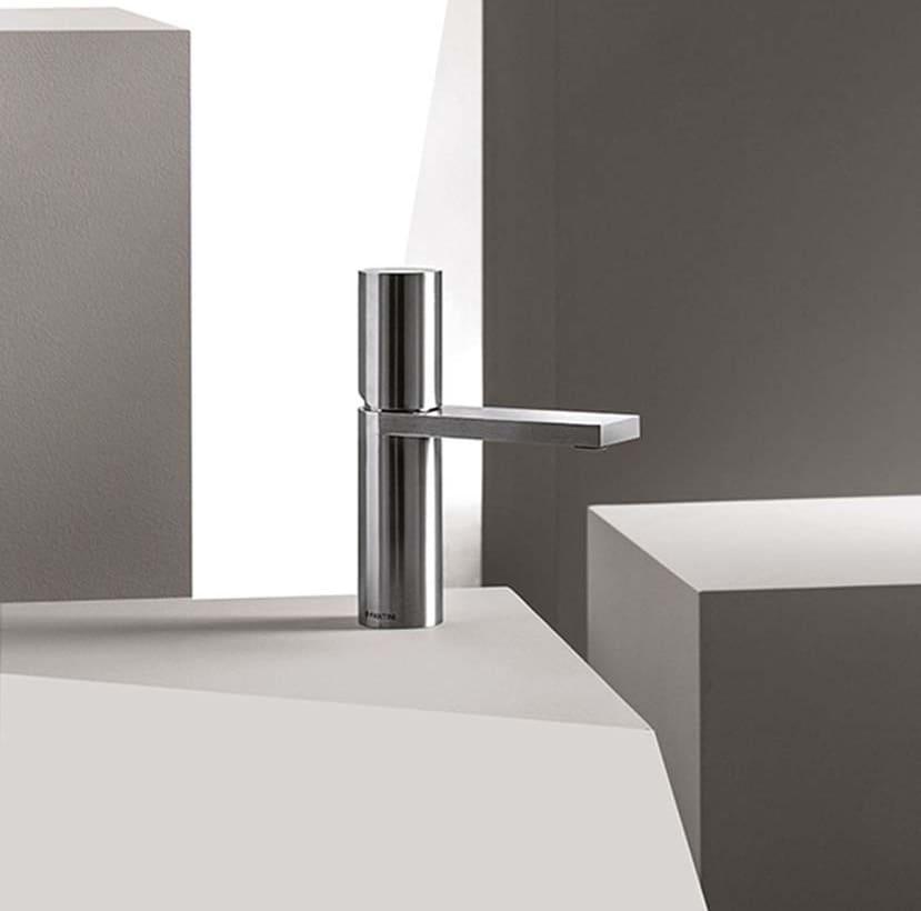Mod Milano miscelatore lavabo acciaio