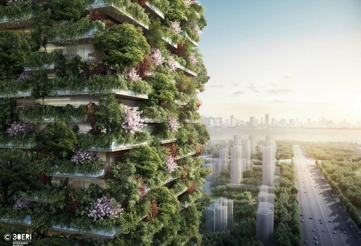 (c)Stefano Boeri Architetti_Nanjing Vertical Forest RenderForest_China