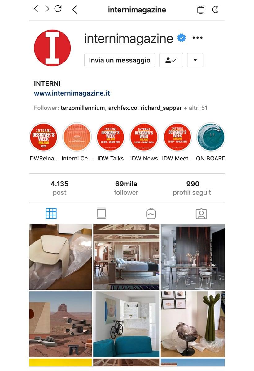 Icon Design, nuova fanpage per Interni