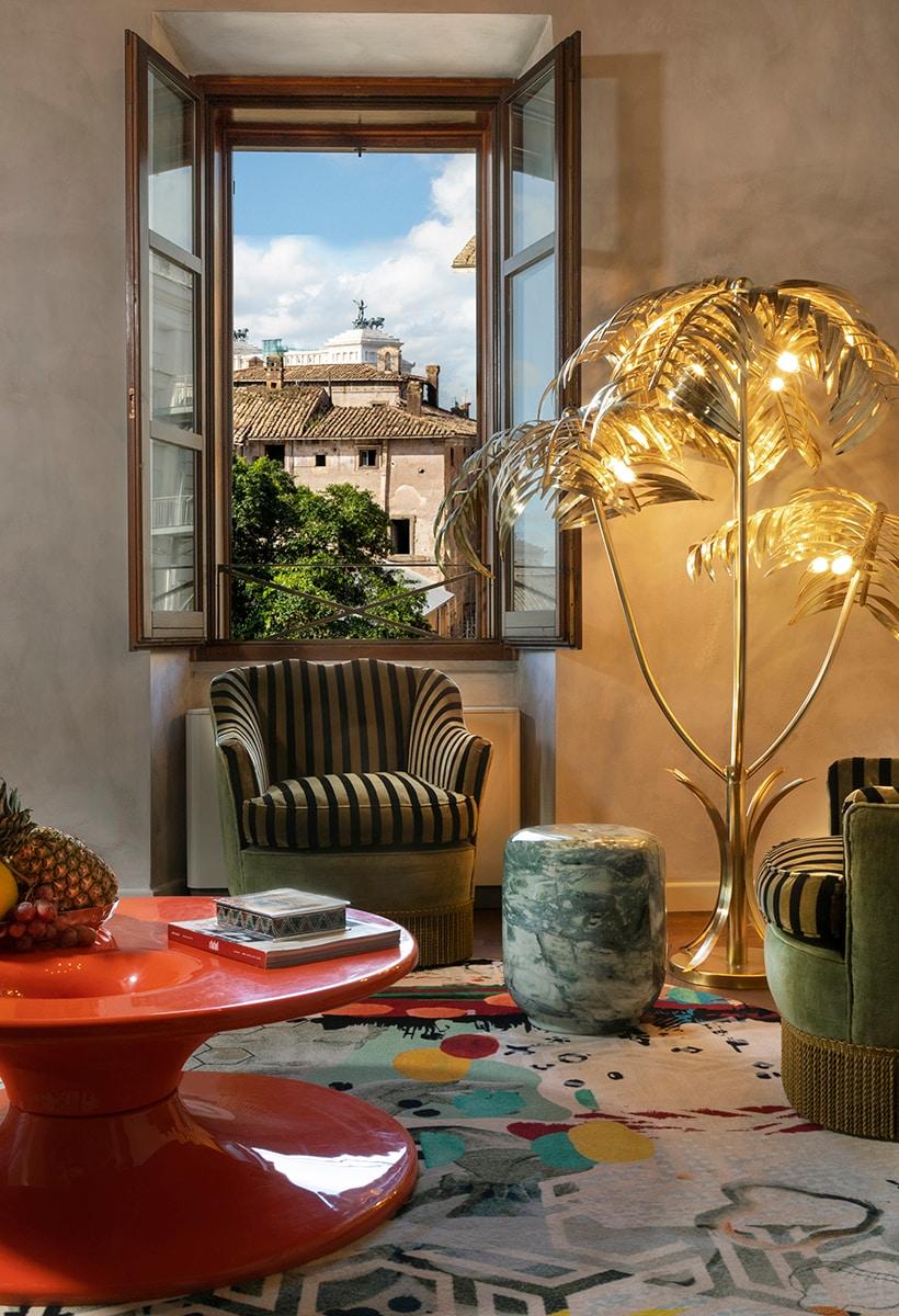 A Roma, un hotel con interior botanici