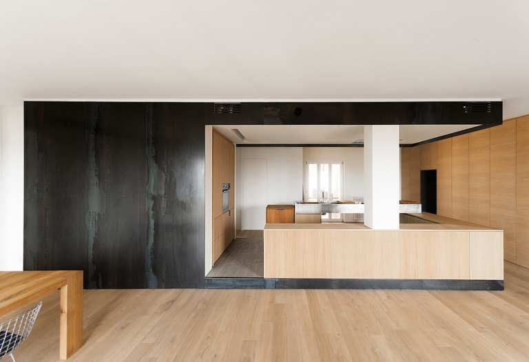 wood and iron apartment