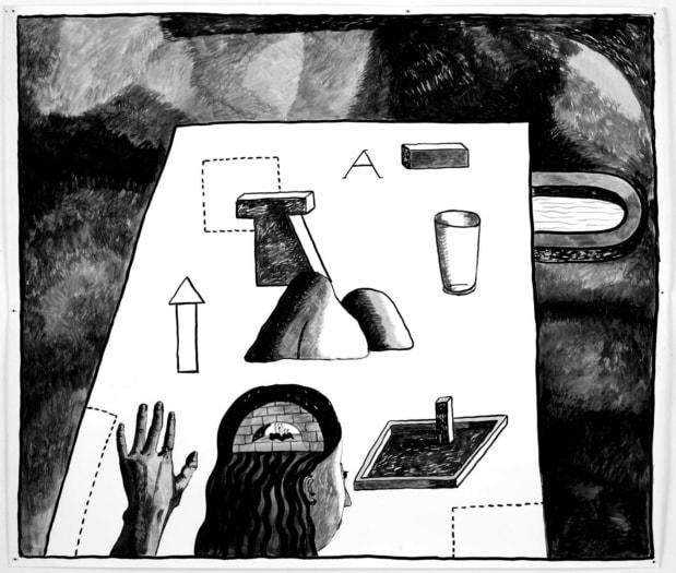 04.Strategia_H150 cm_ink on paper_ph Alice Fiorilli_Courtesy Nathalie Du Pasquier_IMG_0208