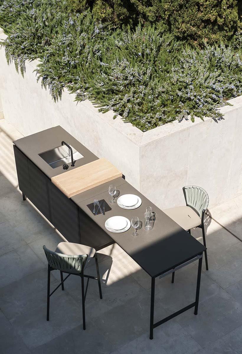La cucina open air di Roda
