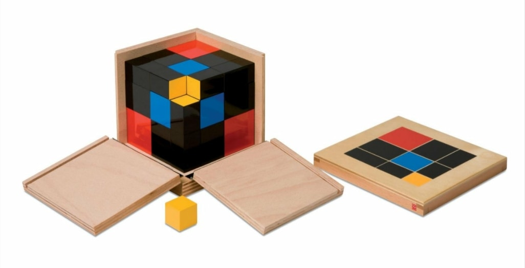 Maria Montessori, Cubo del trinomio