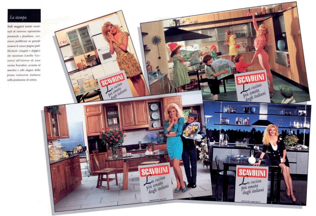 campagna_Scavolini – Pagine Pubblicitarie d'Archivio con Lorella Cuccarini