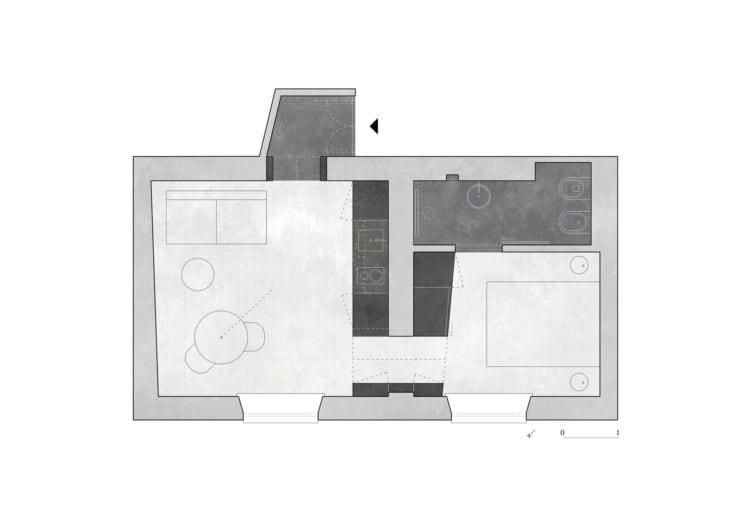 Appartamento sui Navigli house plan_AACM