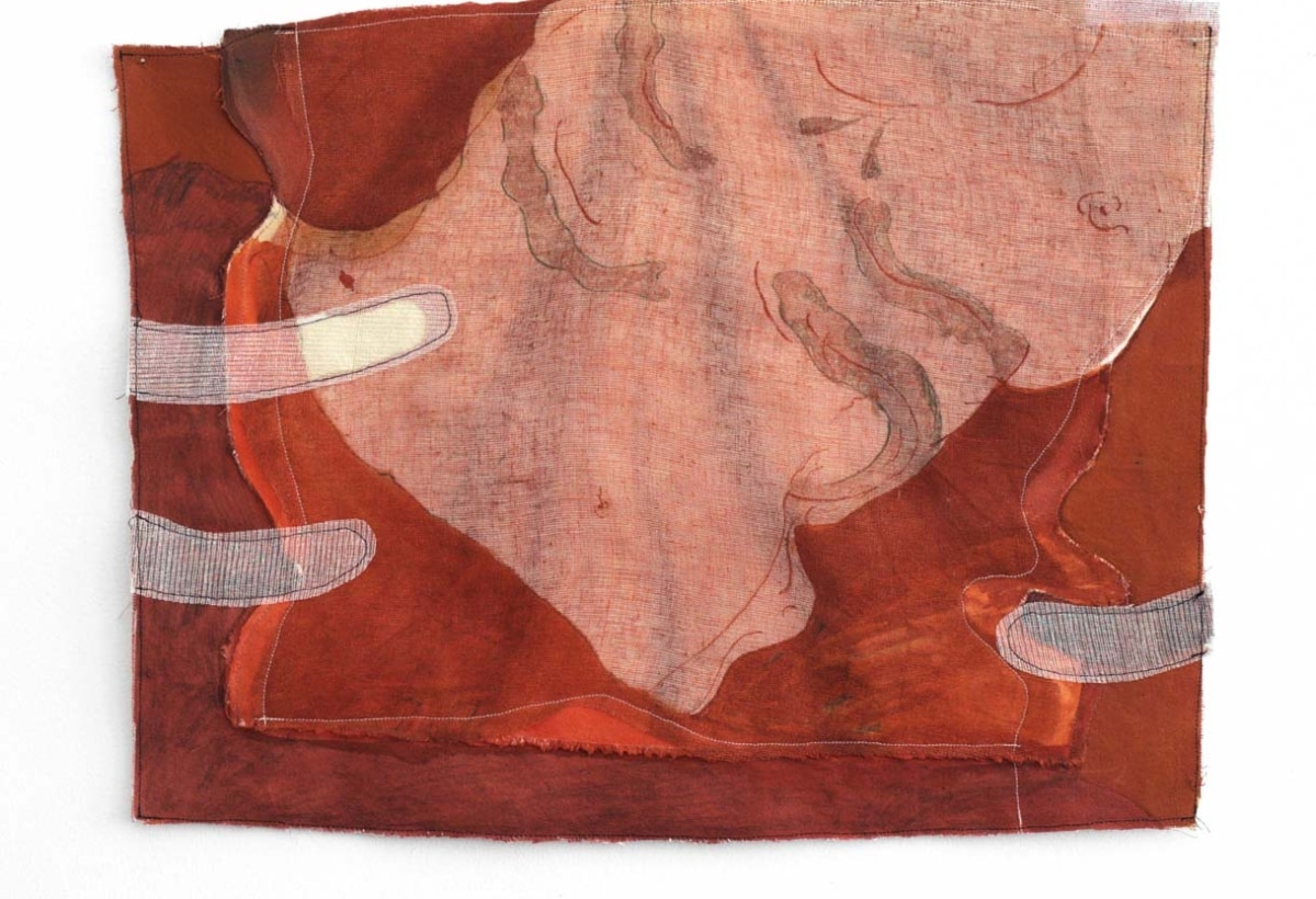 Jeanne Gaigher, Torso, acrylic, ink on canvas and scrim, 2021, 53 x 44 cm. Courtesy the artist and Osart Gallery. Photo Justin Share. LR